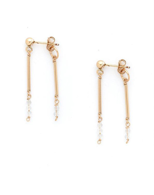 Patel Moonstone Earring 14K Gold Filled