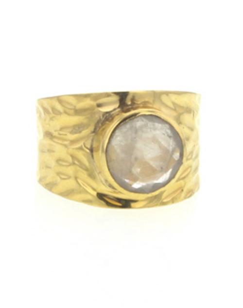 Journey Ring Rutilated Quartz Gold Vermeil