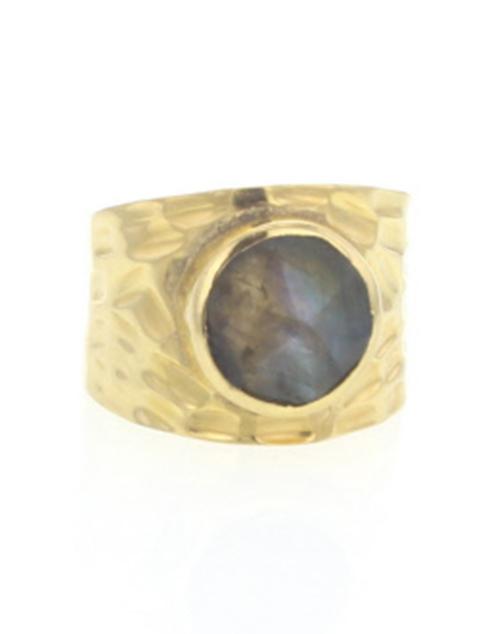 Journey Ring Labradorite Gold Vermeil