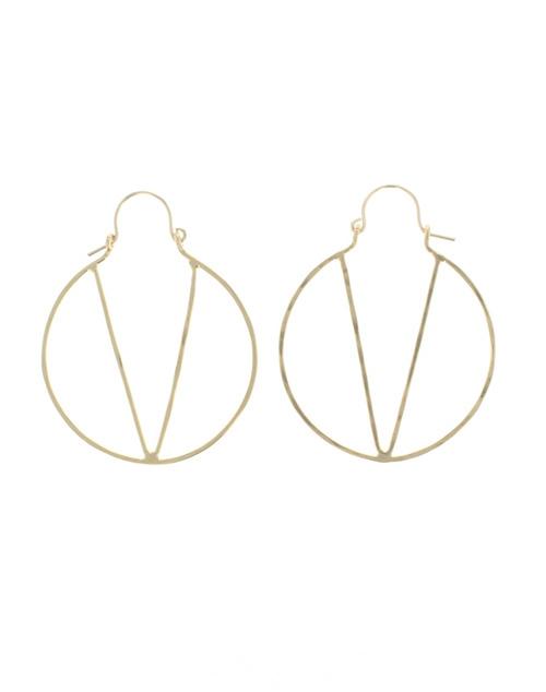 Natalie Hoop Earring Gold Vermeil