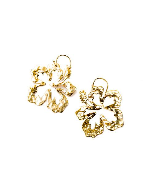 Aloha Hibiscus Earring Gold