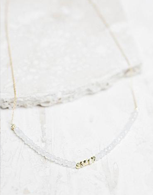 Allegra Moonstone Necklace 18K Gold Plated