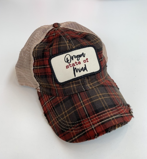 OR State of Mind Ball Cap Plaid