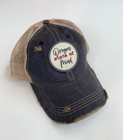 OR State of Mind Ball Cap Grey Navy