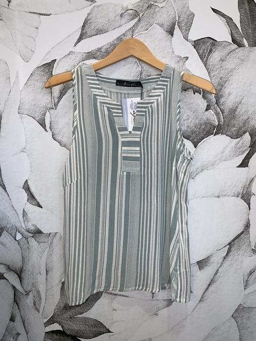 Striped Jellabah Neckline Top