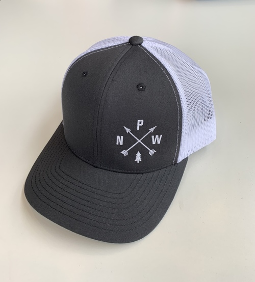 PNW Arrows Trucker Hat Charcoal