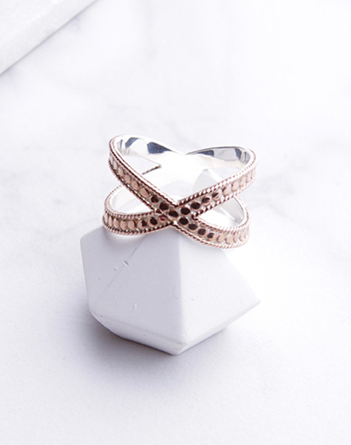 Anna Beck Cross Ring-Rose Gold