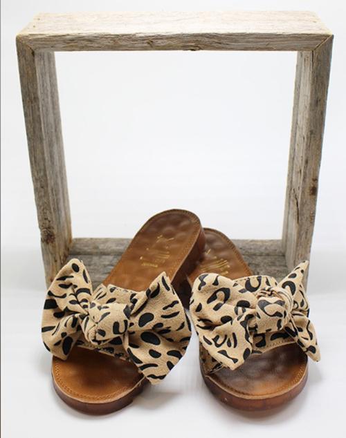 Leopard Bow Sandal