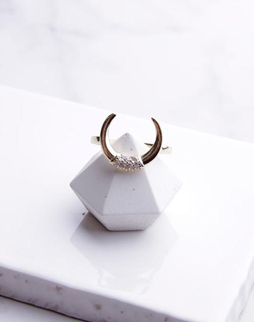 CZ Horn Ring