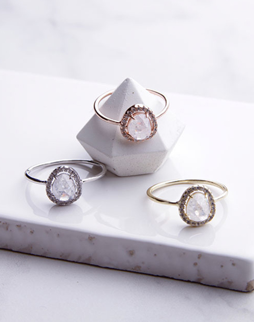 Sparkle Halo Ring