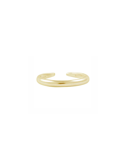 Thin Band Toe Ring 14K Plated
