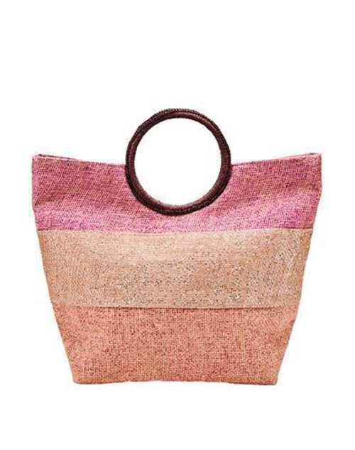 Oversized Glitter Stripe Beach Tote