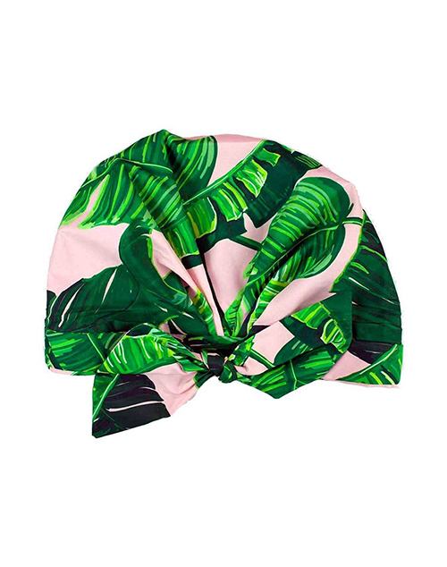Luxe Shower Cap - Palm Leaves