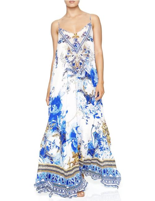 Long Dress W/ Sheer Underlay