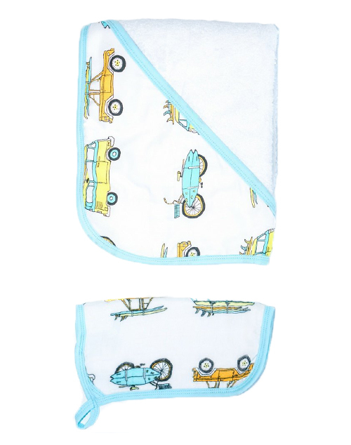 Surf Mobiles Hooded Towel Set