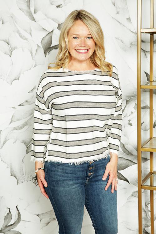 Beziers Striped Top
