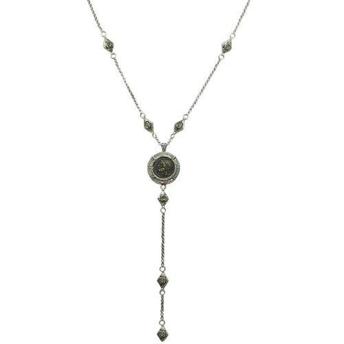 Vintage Silver Marquis Labradorite VG Cornelia Y Necklace