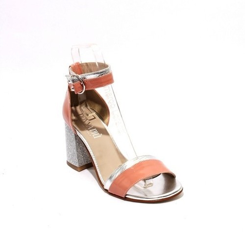 Multi-Color Patent / Leather Ankle Strap Heel Sandals