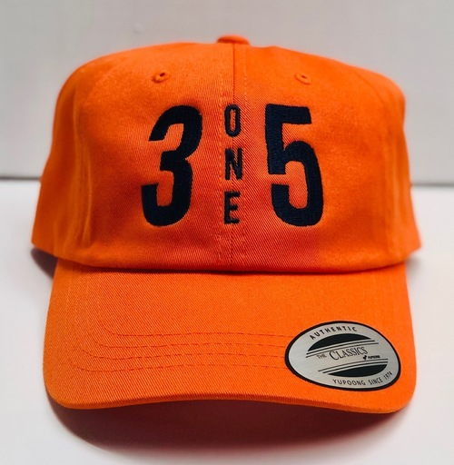 3 One 5 Dad Hat Orange/Navy