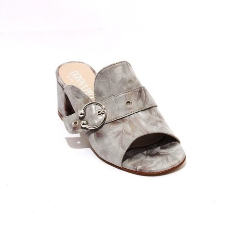 Gray Suede Leather Open-Toe Slides Sandals