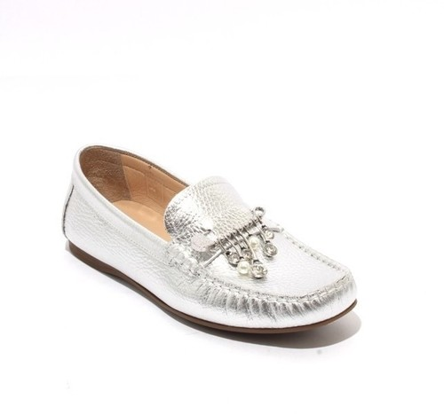 Silver Leather Comfortable Moccasins