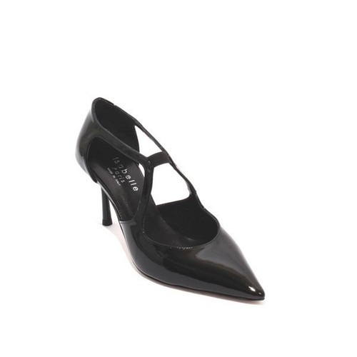 Black Patent Leather Elastic Pointy Classic Pumps