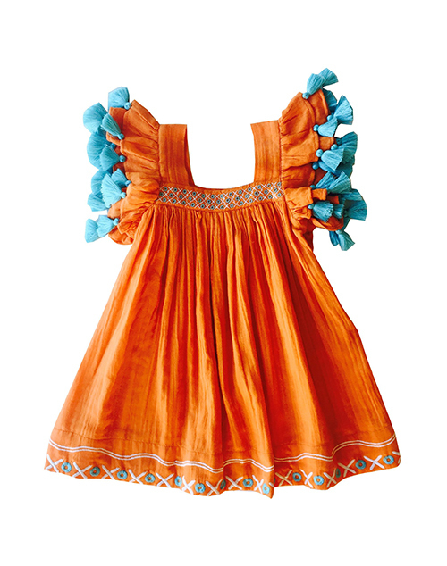 Serena Dress Orange Crush