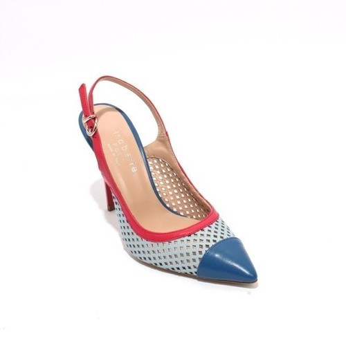 Multi-Color Leather Pointy Heel Slingbacks Pumps