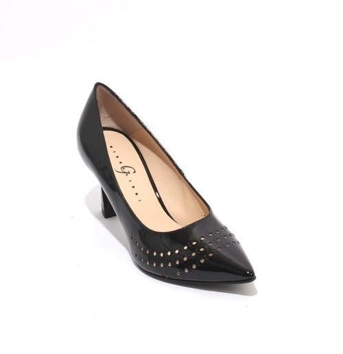 Black Patent Leather Pointy Toe Classic Heel Pumps