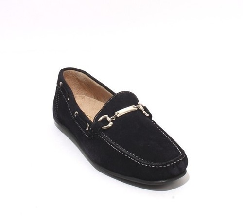 Navy Suede Leather Moccasins Loafers