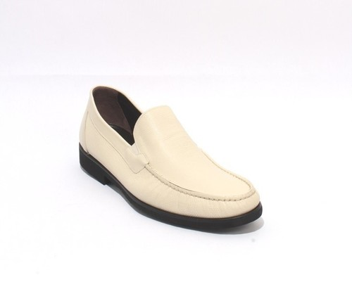 Off White Black / Leather Elastic / Loafers Shoes