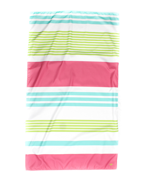 Paradise Stripe Giant Beach Towel Aqua/Pink