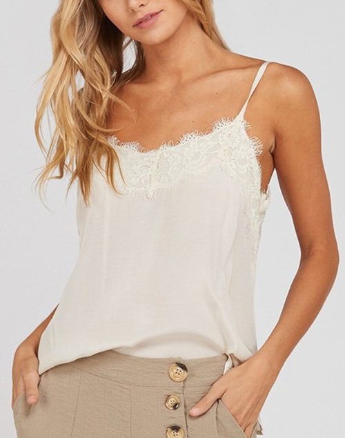 Spaghetti Lace Detailed Camisole
