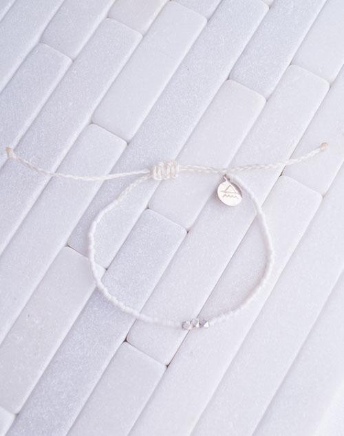 White Party SIlver Bead Bracelet