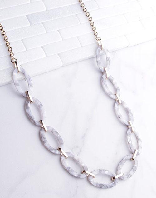 Tortoise Link Long Necklace