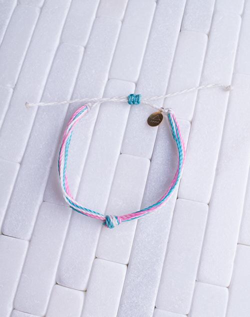 Pink, Teal & White Women's Carlos Bracelet