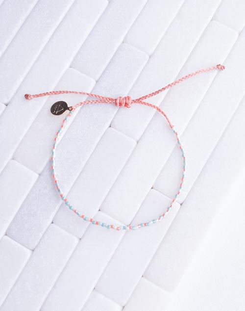 Pearl Mint & Coral Random Pattern Bracelet