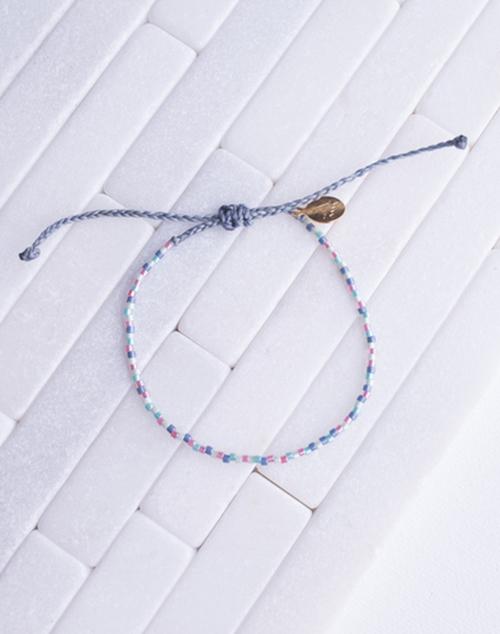 Pearl Blues & Pink RAndom Pattern Bracelet