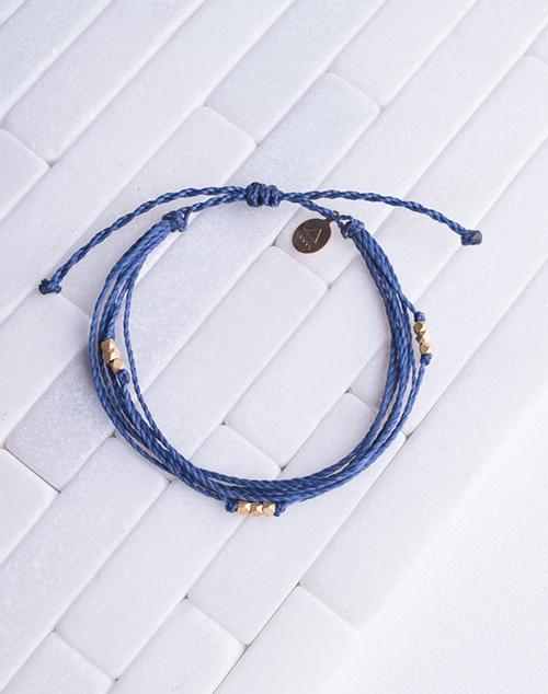 Navy Macua Gold Bracelet