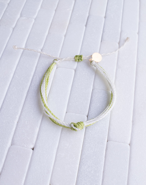 Green & White Women's Carlos Bracelet