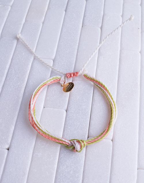 Coral, Green & White Women's Carlos Bracelet