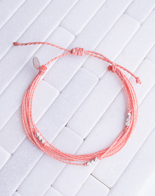 Coral Silver Macua Bracelet