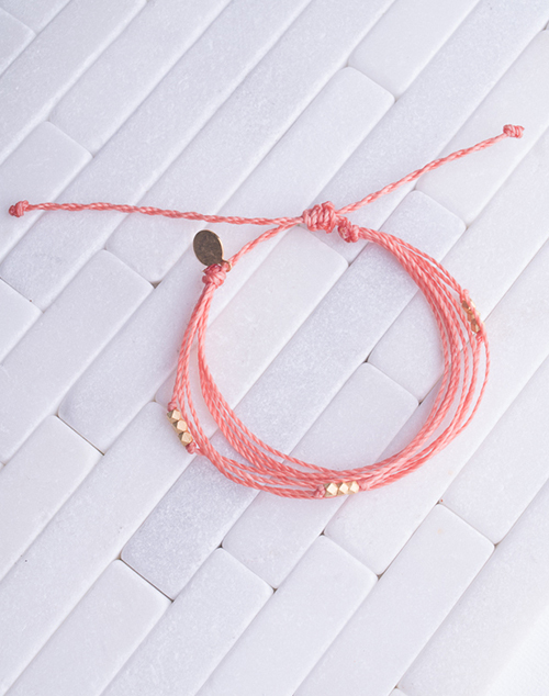 Coral Macua Gold Bracelet