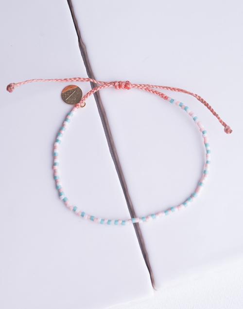 Coral & Teal Random Pattern Bracelet