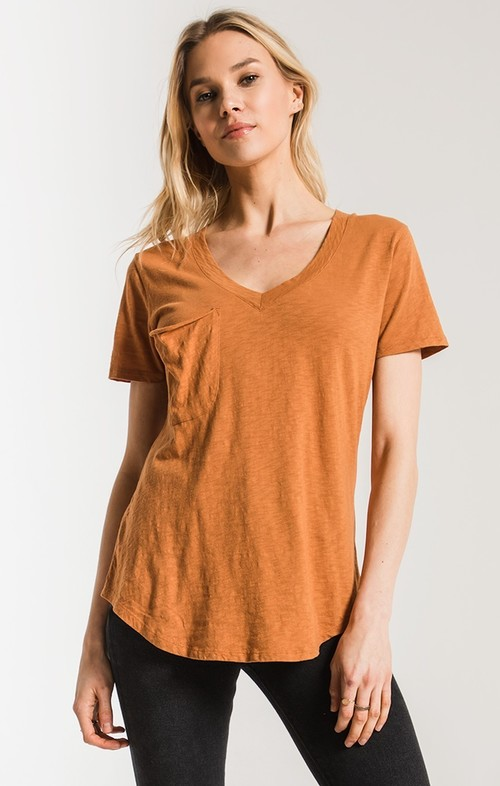 The Cotton Slub Pocket Tee Warm Wood