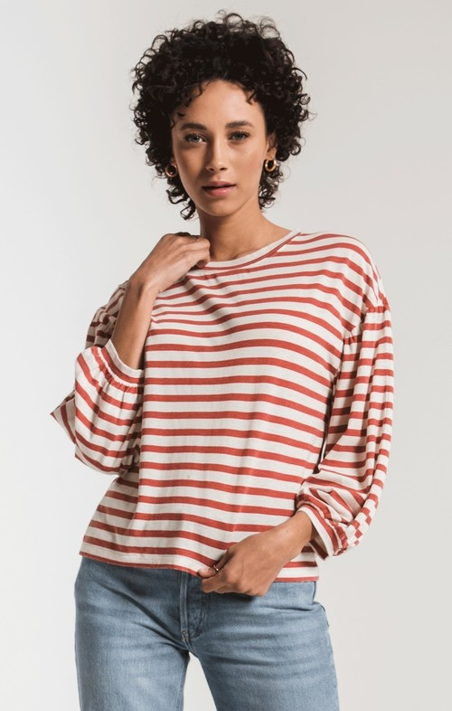 The Canyon Stripe Peasant Tee