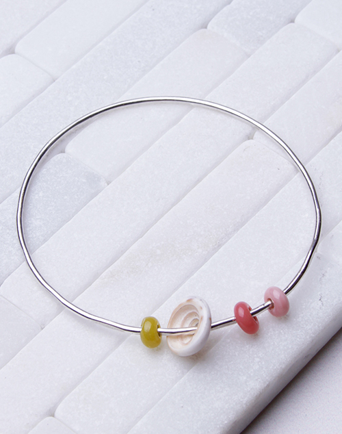 Starburst Bangle - Sterling Silver