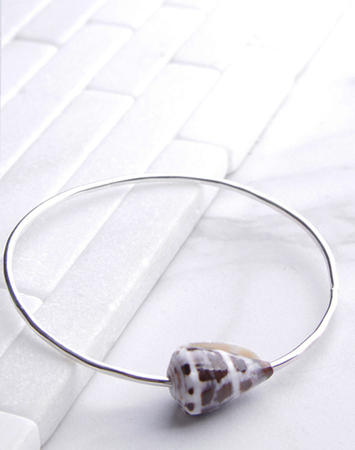 Cone Shell Bangle Sterling Silver