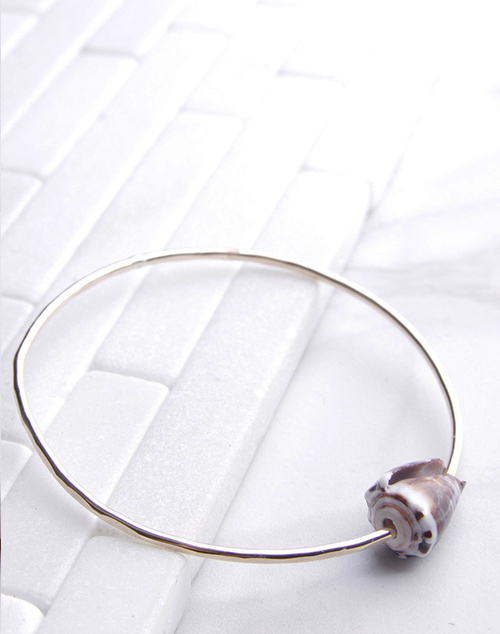 Cone Shell Bangle 14K Gold Filled