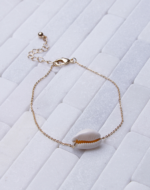 Dainty Chain Cowry Anklet